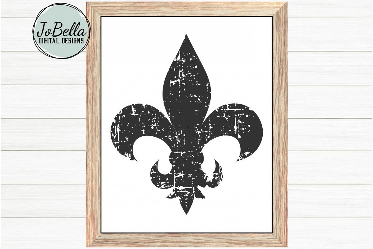 photo regarding Fleur De Lis Printable named Distressed Fleur De Lis SVG, Sublimation PNG Printable