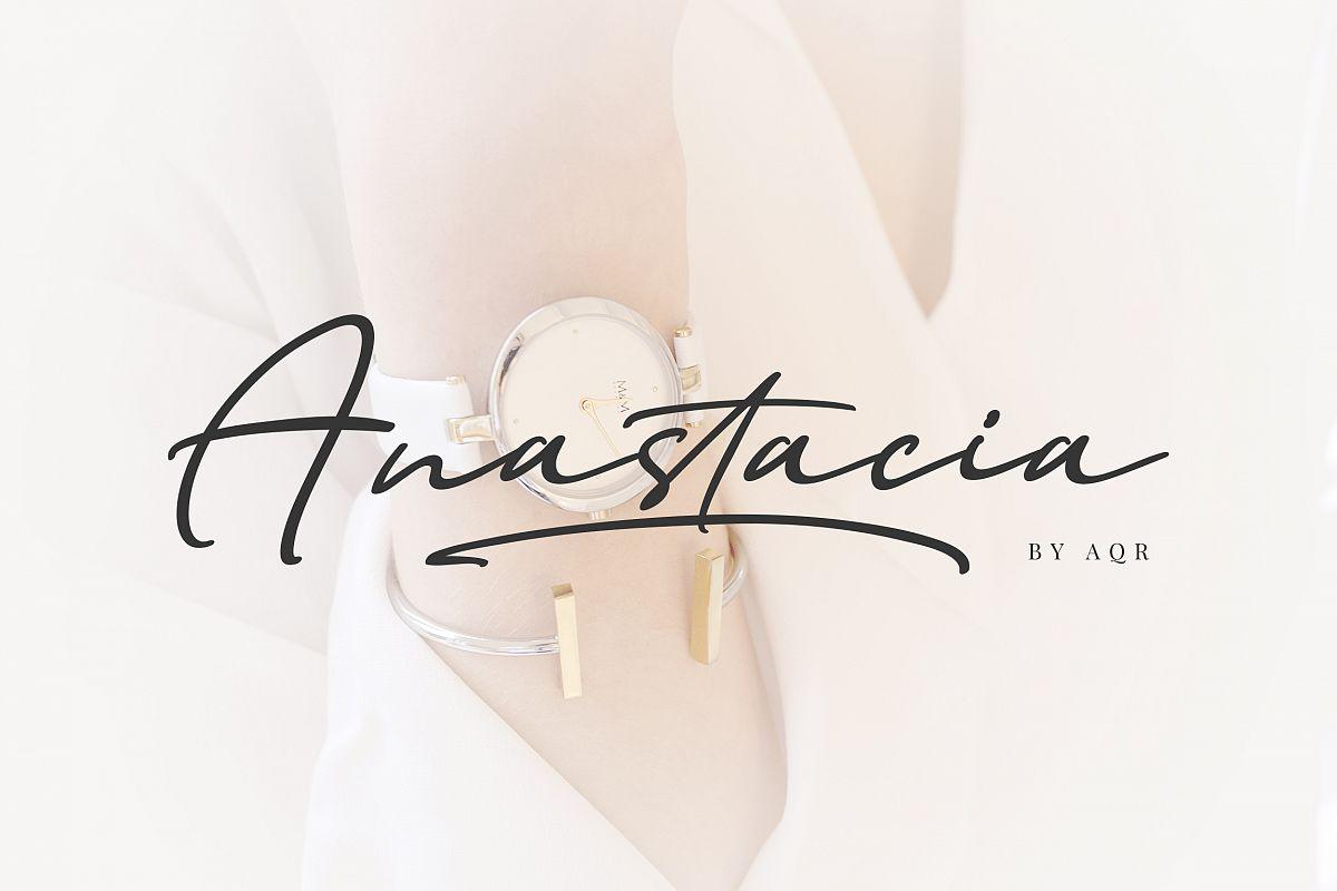 Anastacia Signature Font example image 1