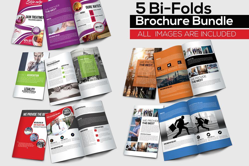 5 Business Bi-fold Brochures Bundle example image 1