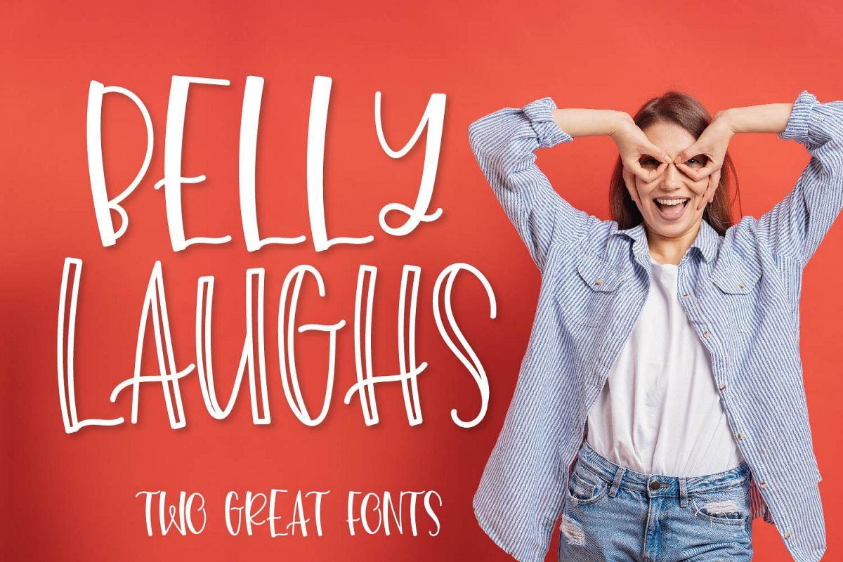 Belly Laughs - A Font Duo example image 1
