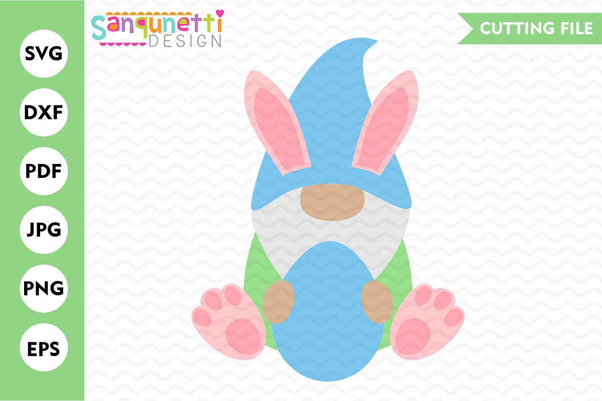 Easter gnome svg, bunny gnome cut file example image 1