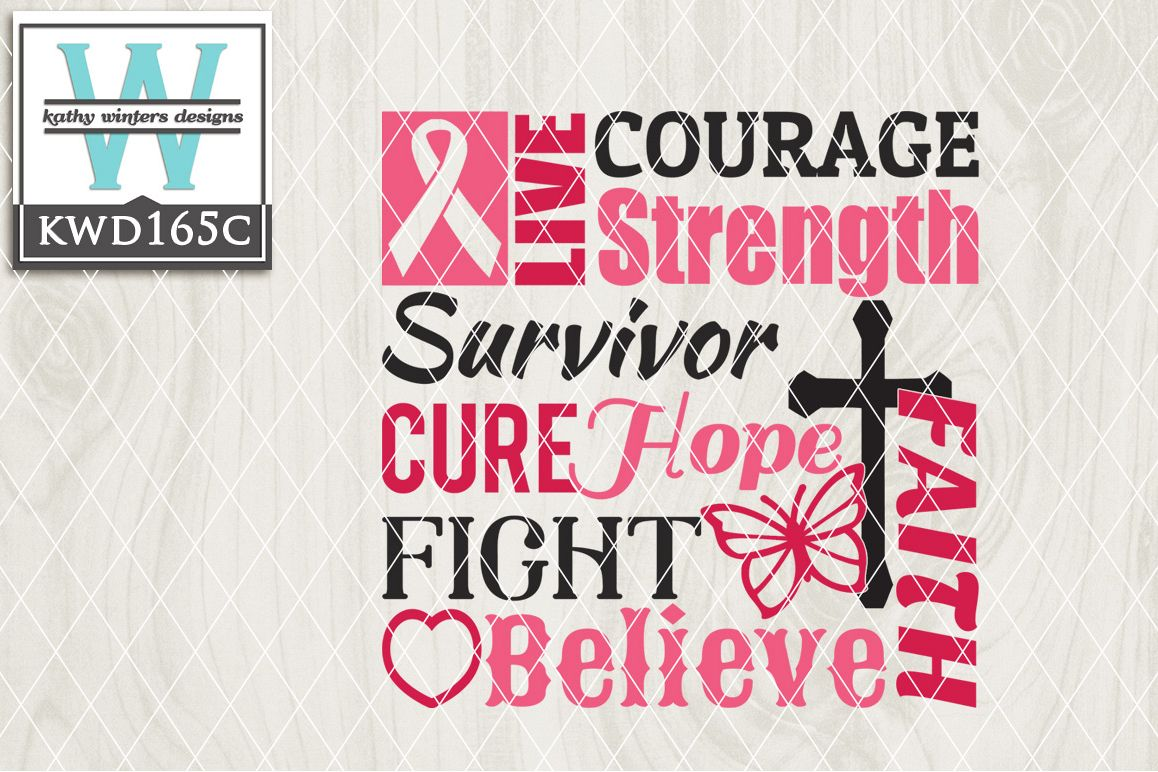 Breast Cancer Awareness Cutting File KWD165C example image 1