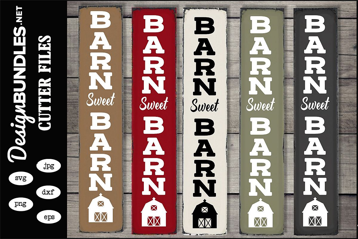 Barn Sweet Barn Vertical SVG example image 1