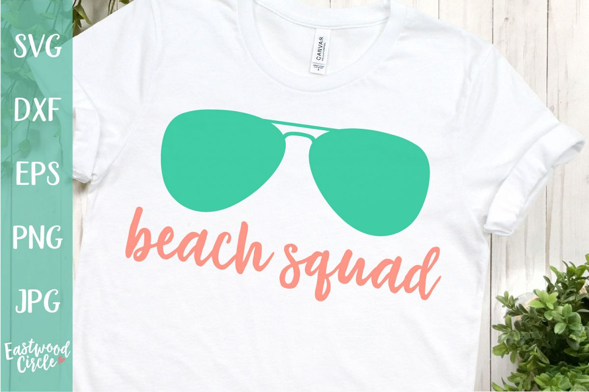 Beach Squad - A Beach SVG Cut File example image 1
