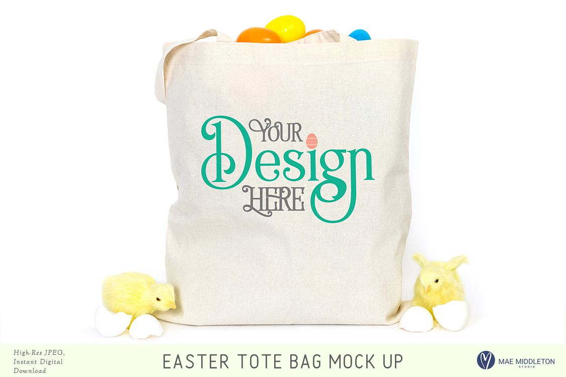 Tote Bag mock up for Easter example image 1