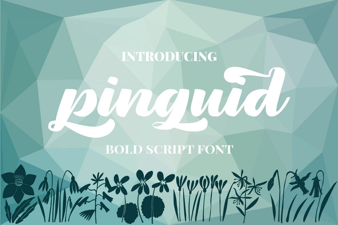 Pinguid | Bold Script example image 1