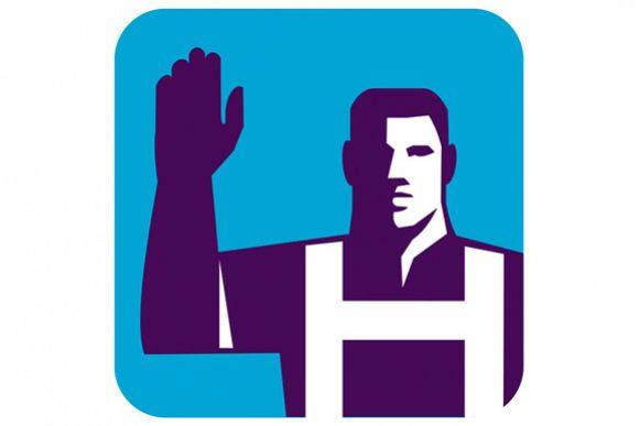Worker Right Arm Raise to Vote Square Retro example image 1