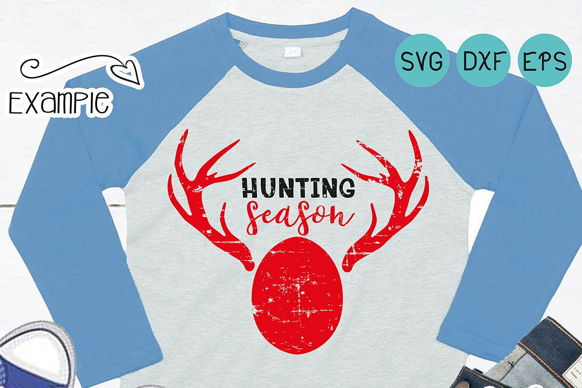 Grunge easter, Hunting Season SVG, Easter svg, It's Hunting Season, vintage svg, Distressed svg, My First Hunting Season, dxf, eps file example image 1