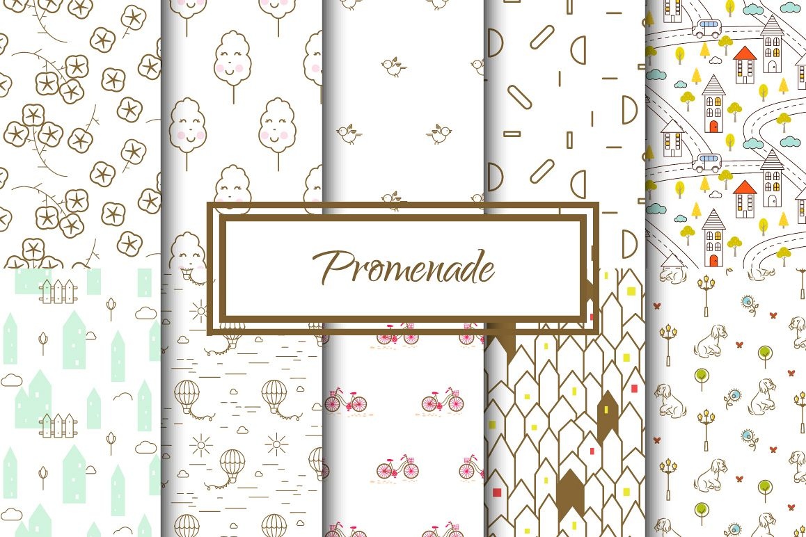 Promenade Seamless Patterns example image 1