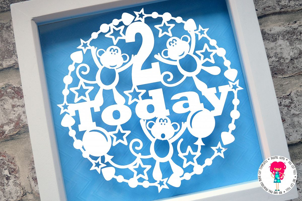 2 Today Paper Cut SVG / DXF / EPS files example image 1