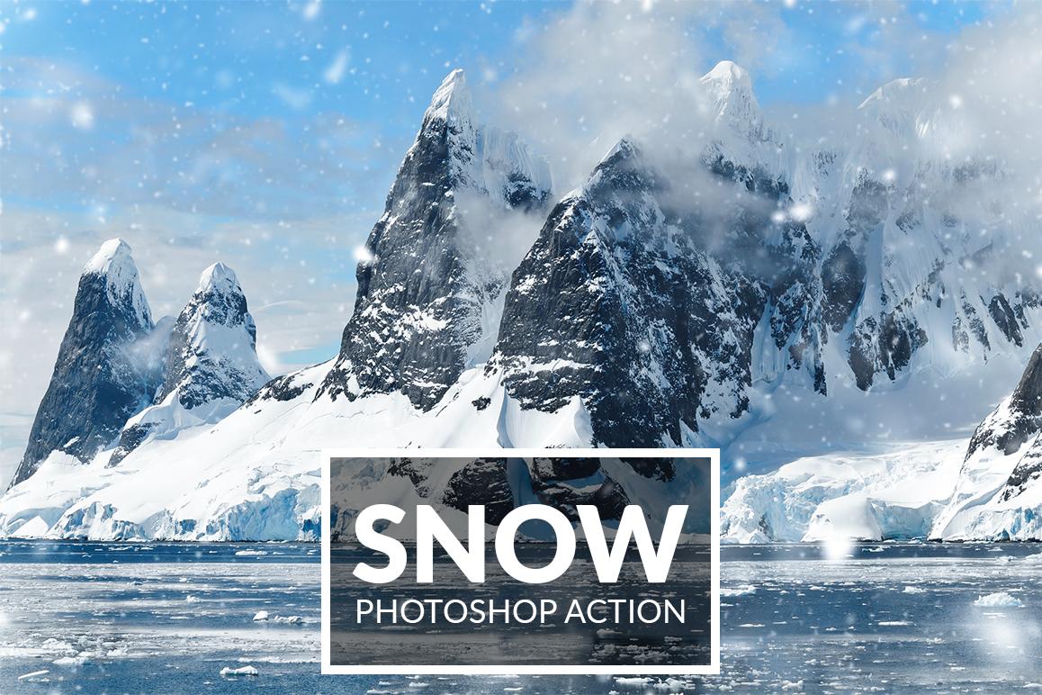 Snow Photoshop Action example image 1