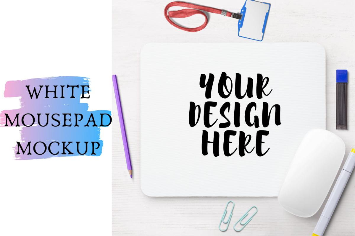 White Mouse-pad Mock Up 4042x3982px example image 1