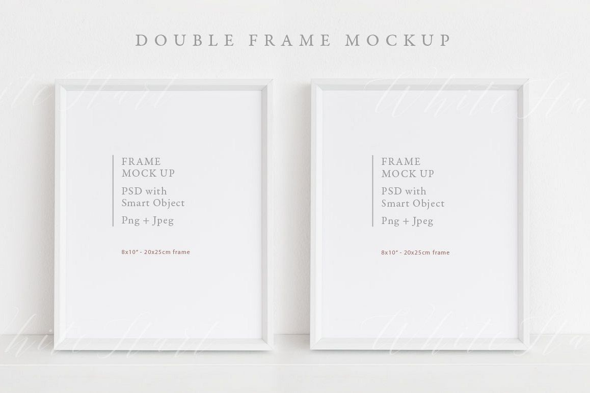 Double frame mockup - 8x10 example image 1
