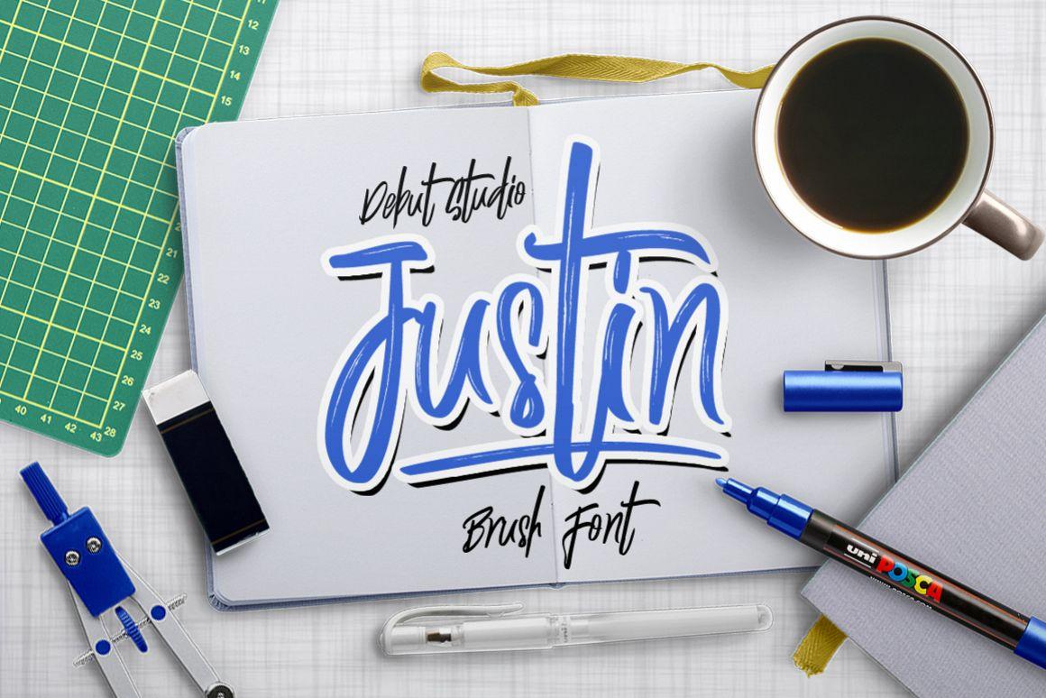 Justin Brush Font example image 1