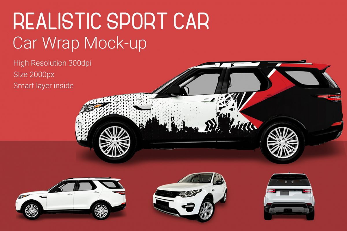 Sport Car Mock-Up example image 1
