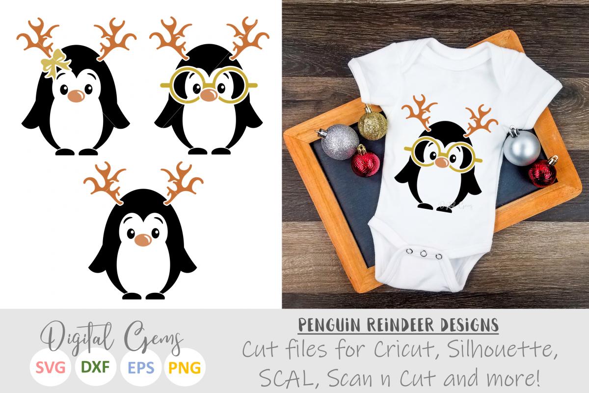 Penguin Reindeer, Christmas designs example image 1