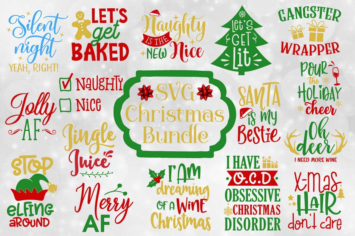 funny christmas quotes bundle svg ep design bundles
