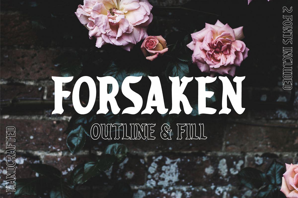 Forsaken Font example image 1
