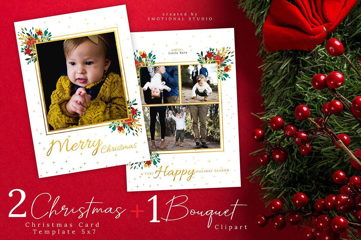 Christmas Card Template 5x7 example image 1