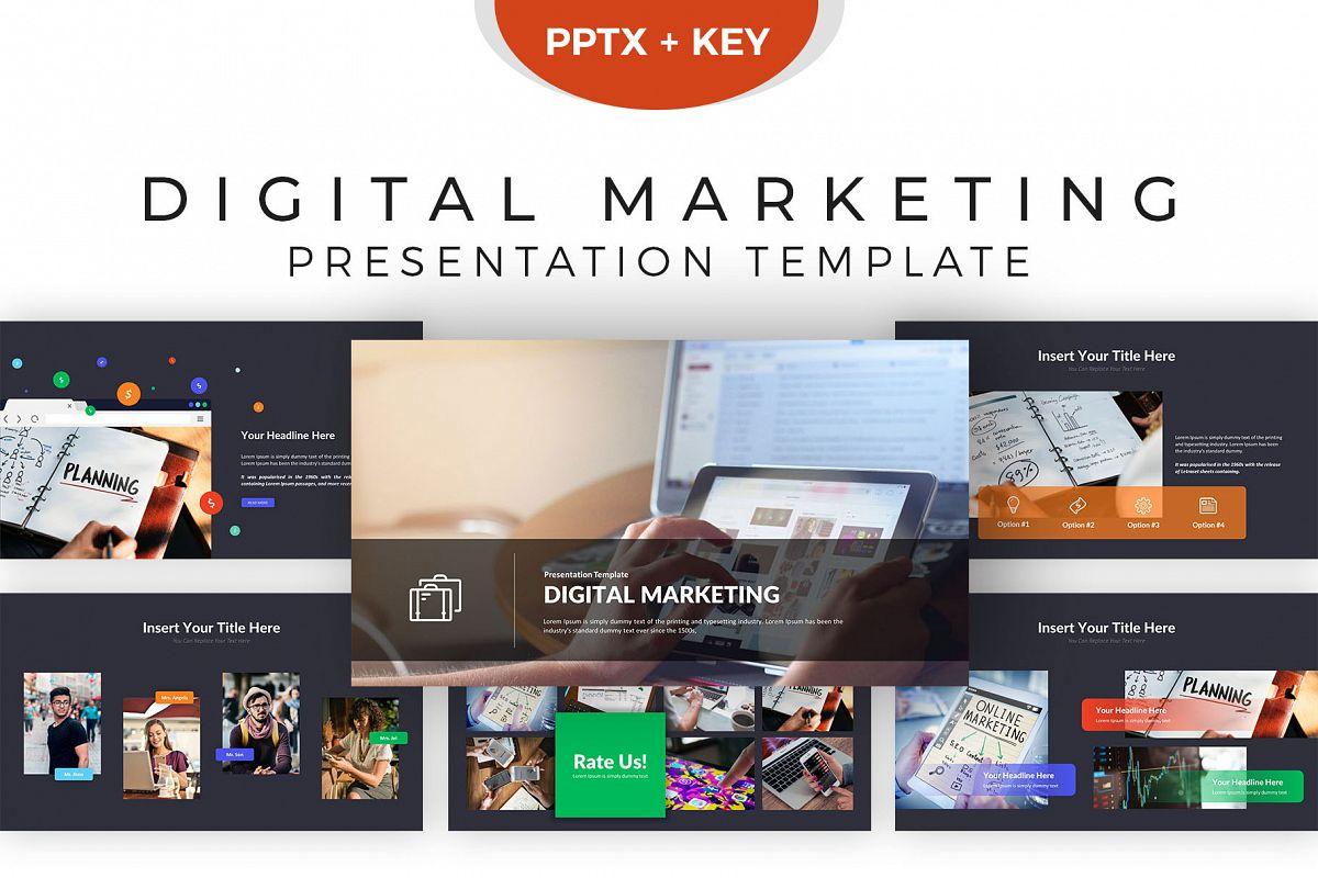 digital marketing presentation template | design bundles, Digital Marketing Presentation Template, Presentation templates