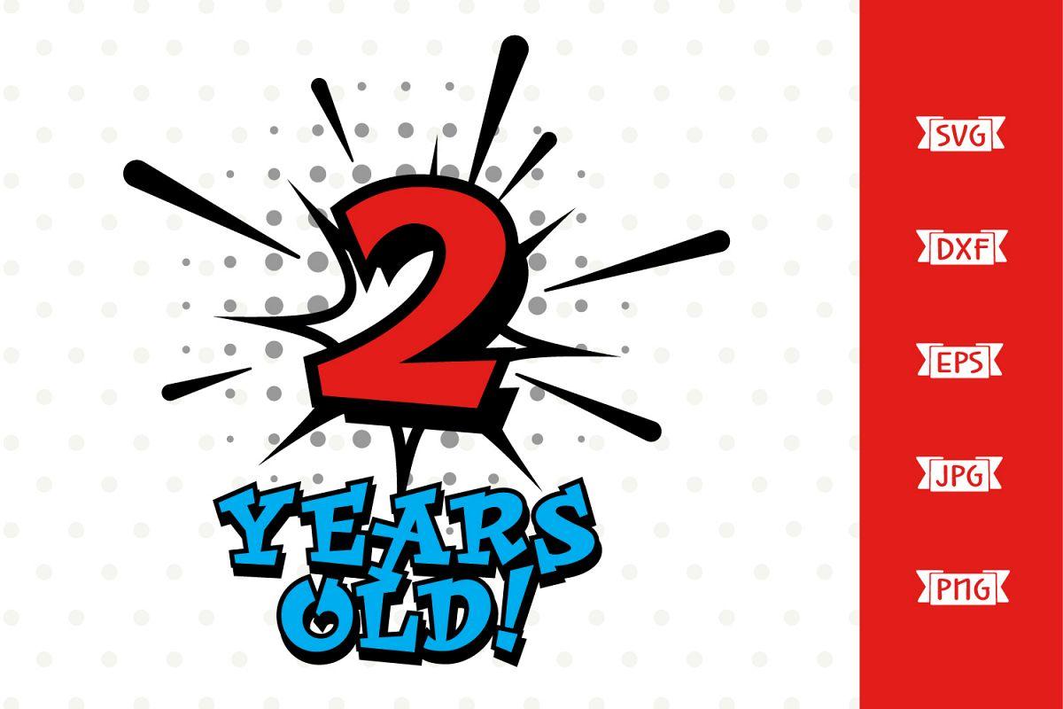 Boys 2nd Birthday Superhero SVG file example image 1