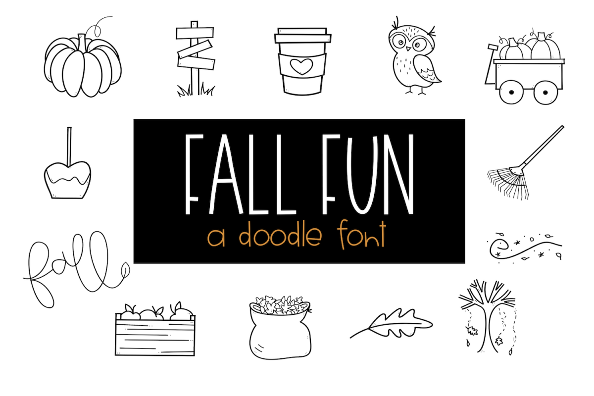 Fall Fun - A Fall / Autumn Doodles Font example image 1