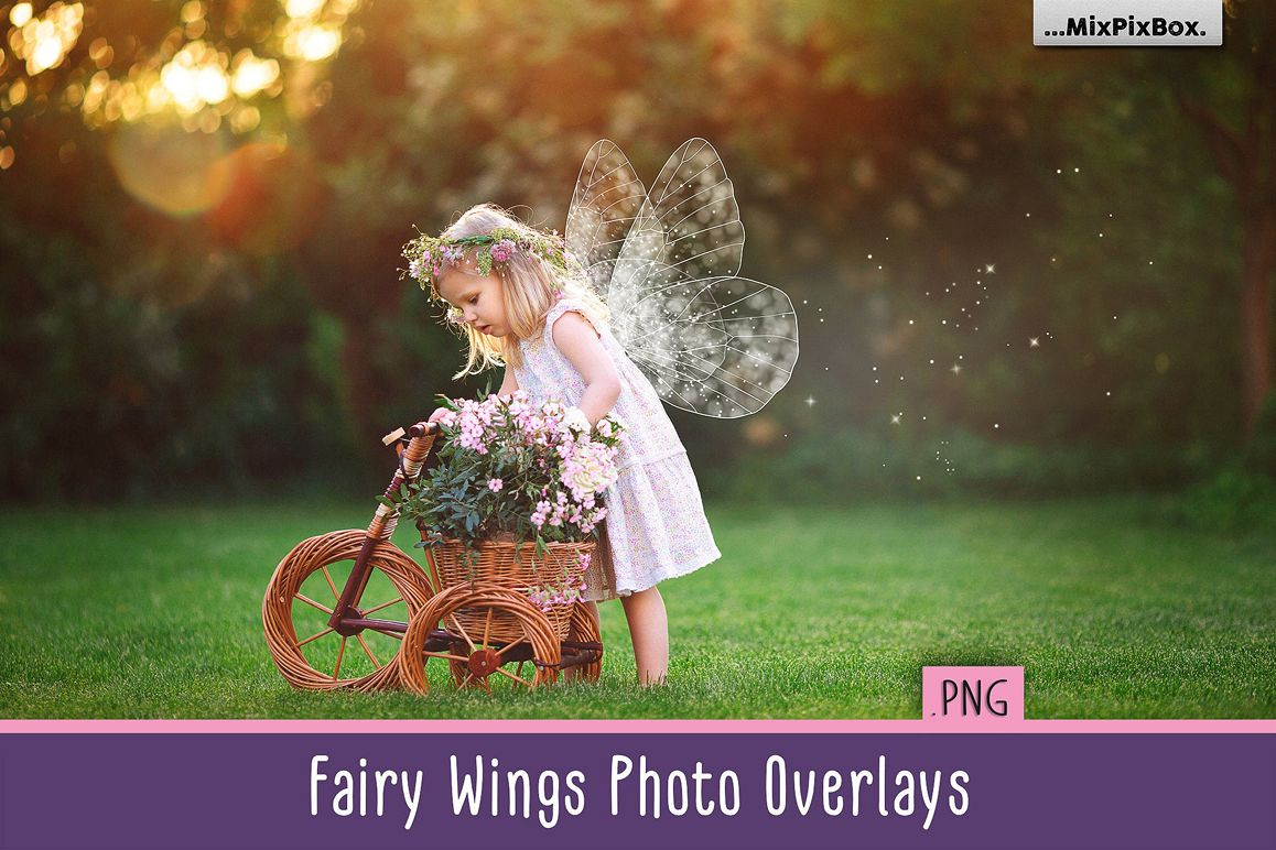 Fairy Wings Photo Overlays example image 1