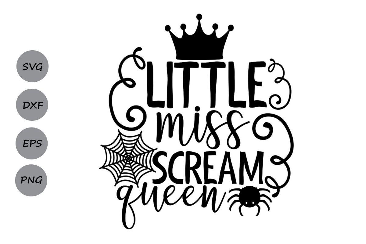 Little Miss Scream Queen Svg, Halloween svg, Halloween girl. example image 1