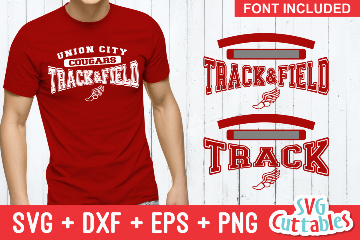 Track and Field Template 003 | SVG Cut File example image 1
