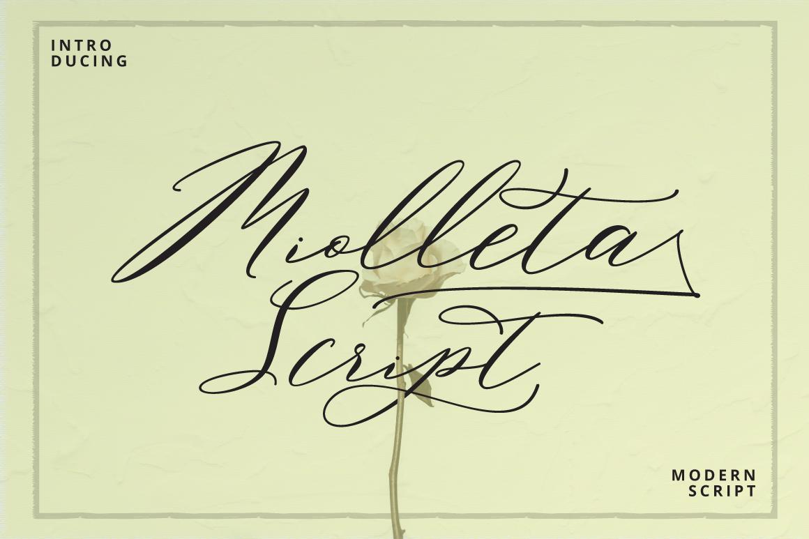 Miolleta Script example image 1