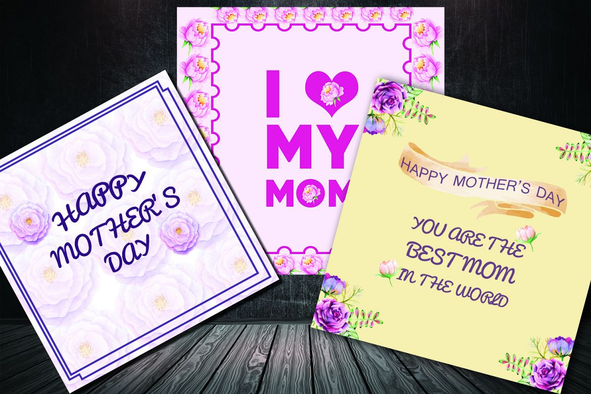 Mother's day greeting card pack example image 1