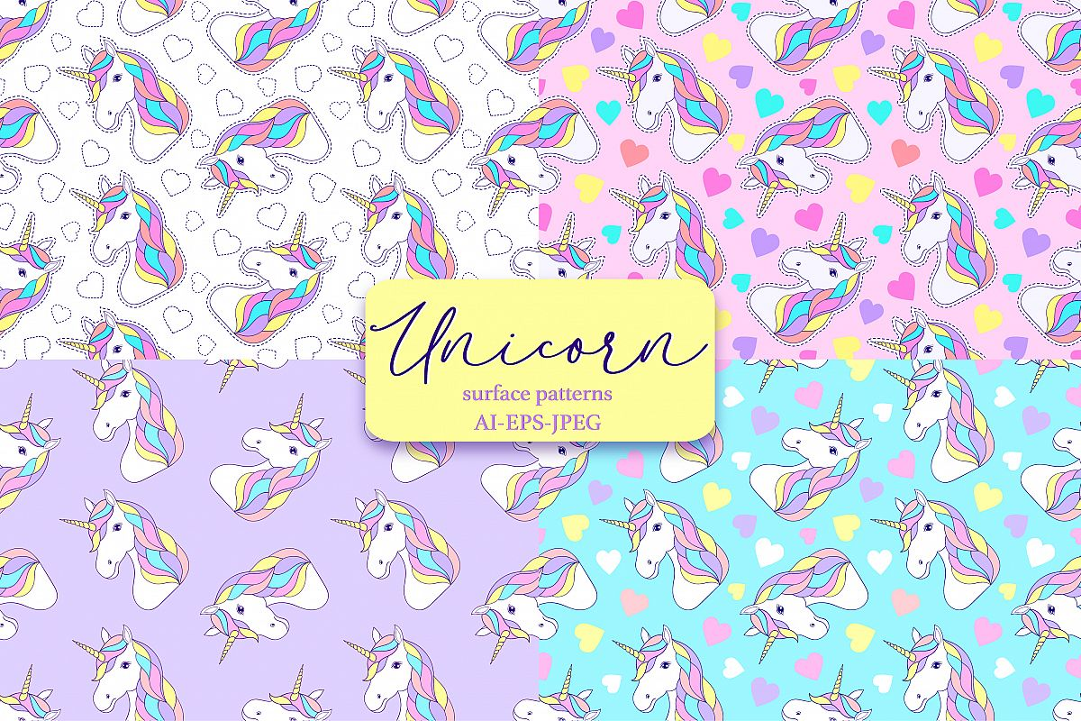 Unicorns.Surface patterns. example image 1