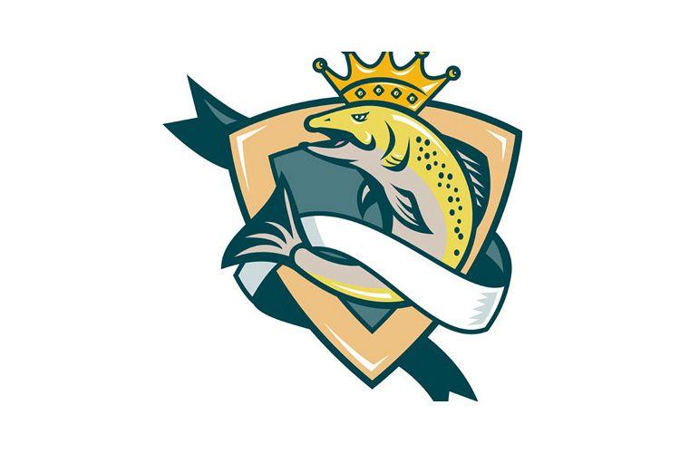 King Salmon Fish Jumping Shield example image 1