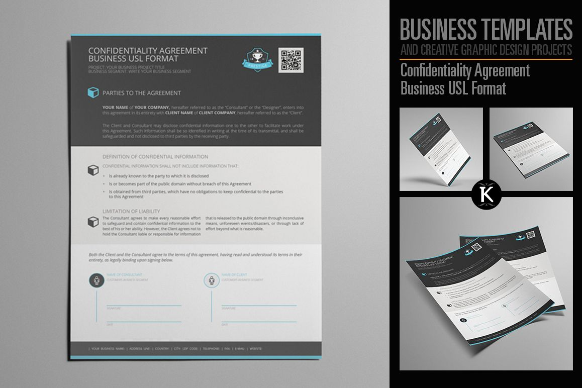 Confidentiality Agreement Business Usl Format