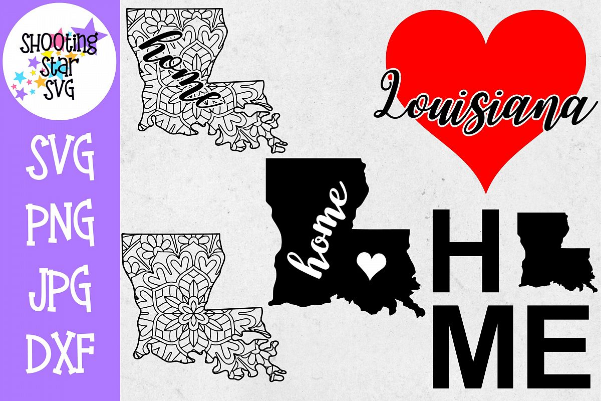 Louisiana US State SVG Decal Bundle - 50 States SVG example image 1