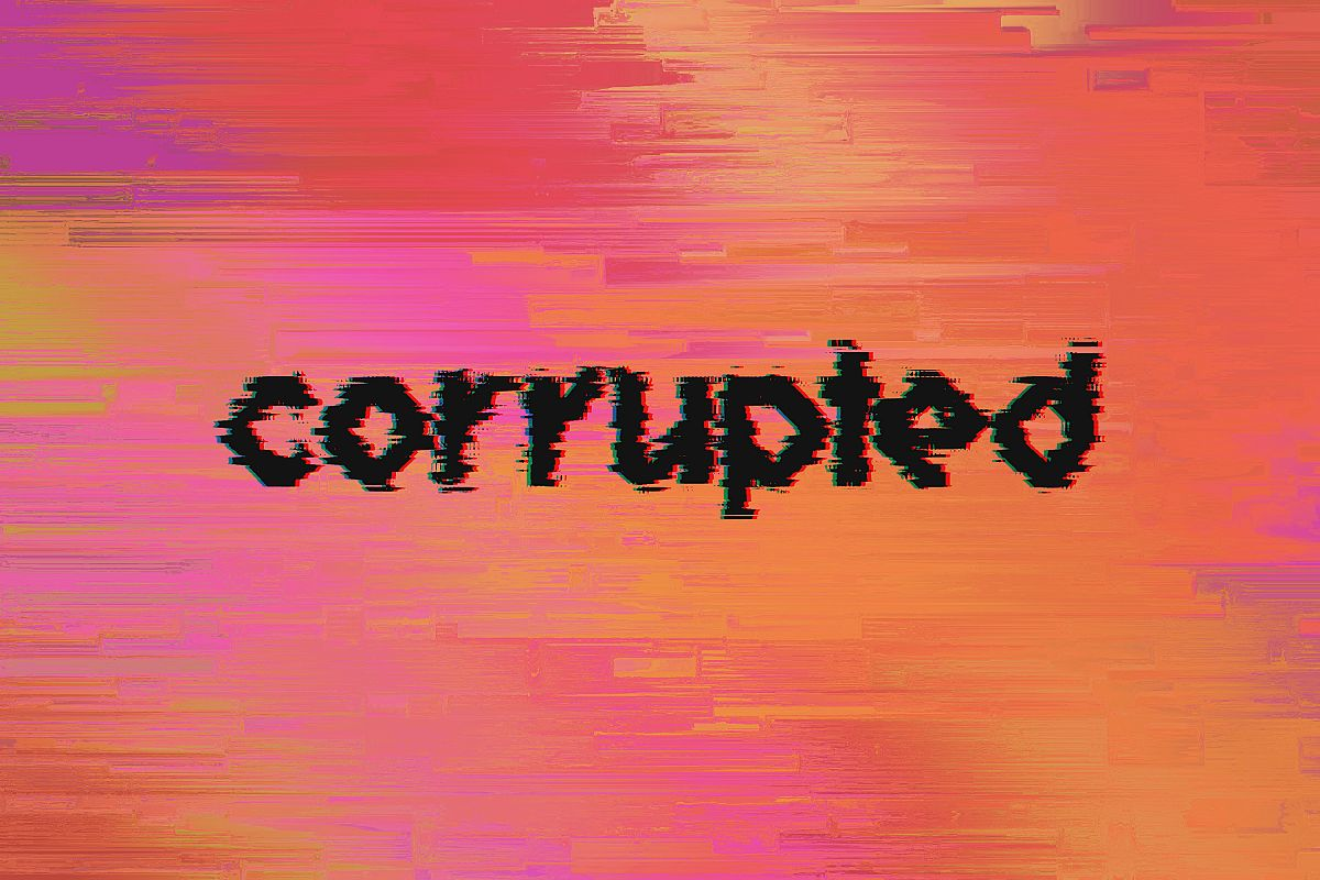 Corrupted - 15 Glitched Backgrounds Pack example image 1