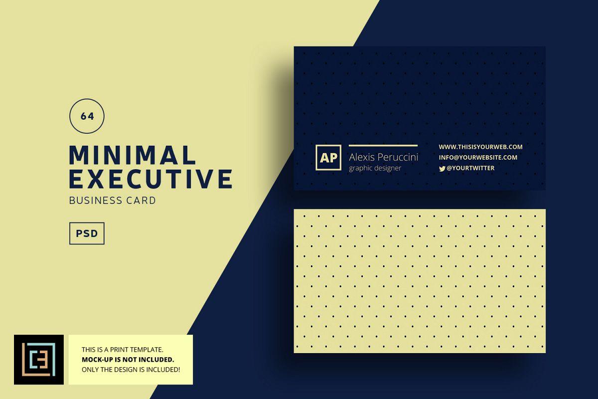 Minimal executive business card bc064 design bundles minimal executive business card bc064 example image colourmoves