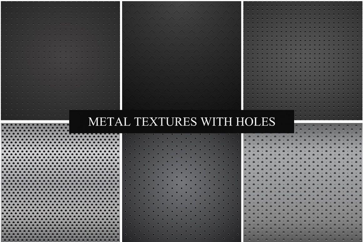 Metallic dark textures with holes. example image 1