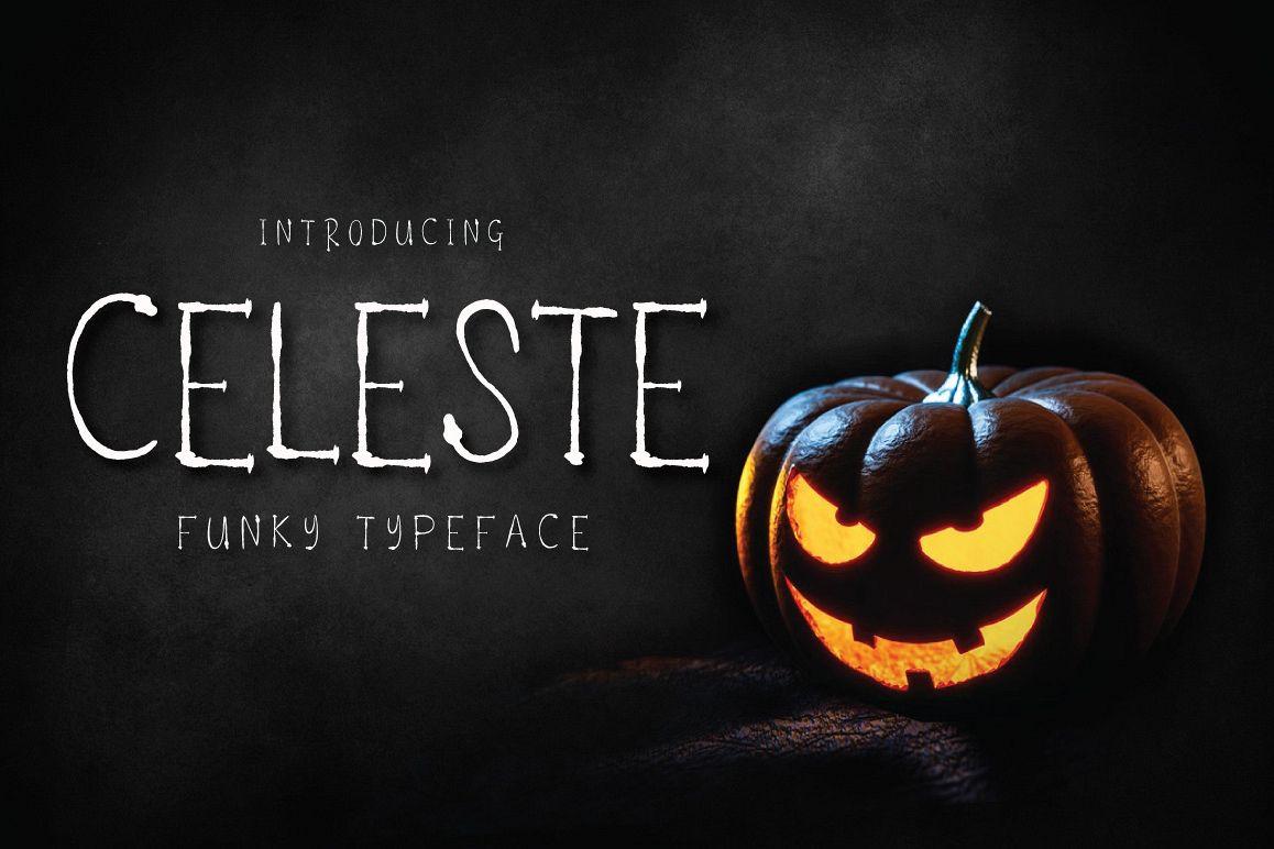 Celeste - Funky Typeface example image 1