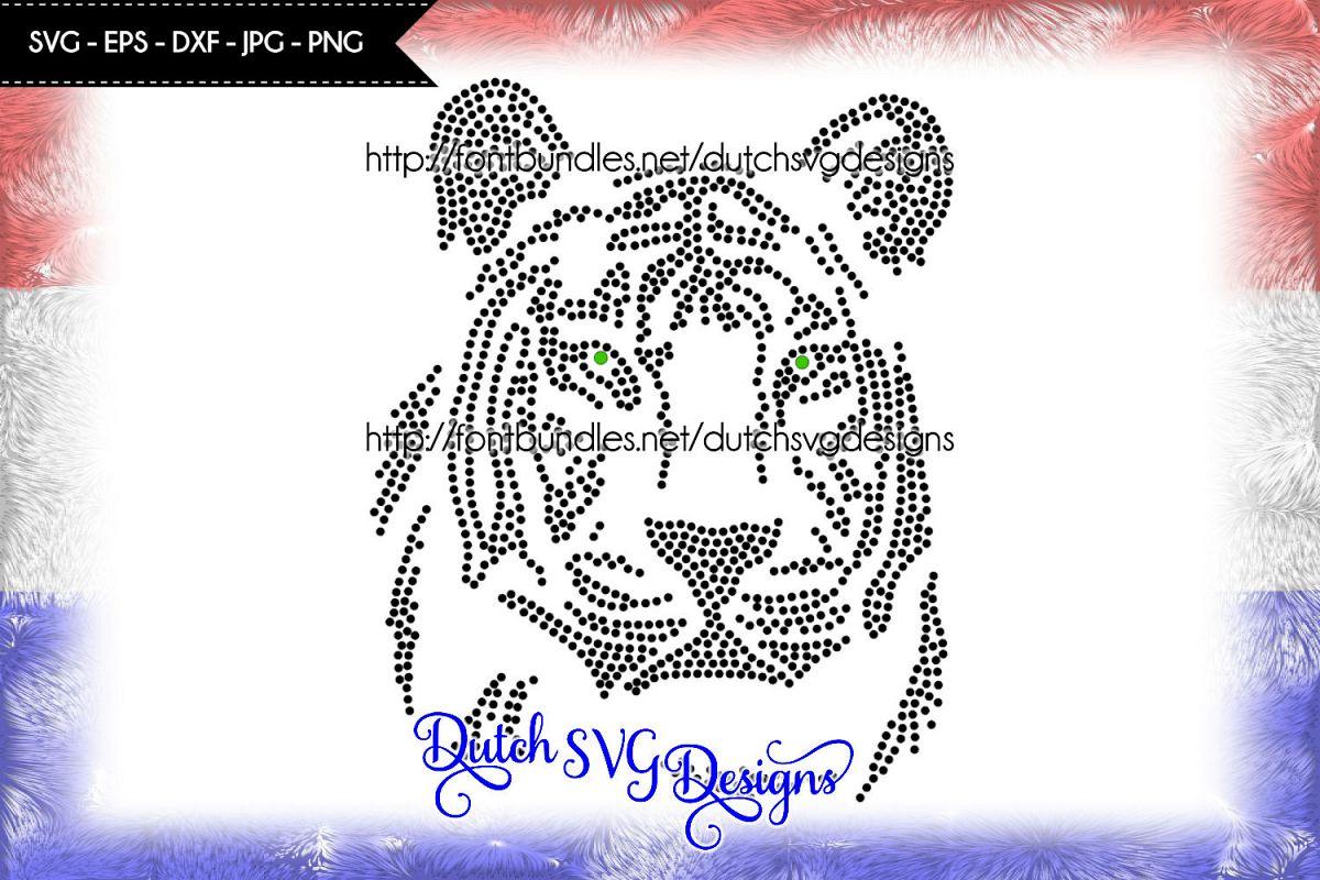 Hotfix Rhinestone Ss10 Tiger Pattern Rhinestone Pattern