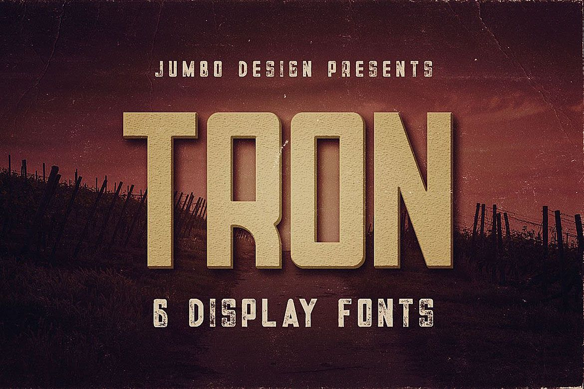 Tron - Display Font example image 1