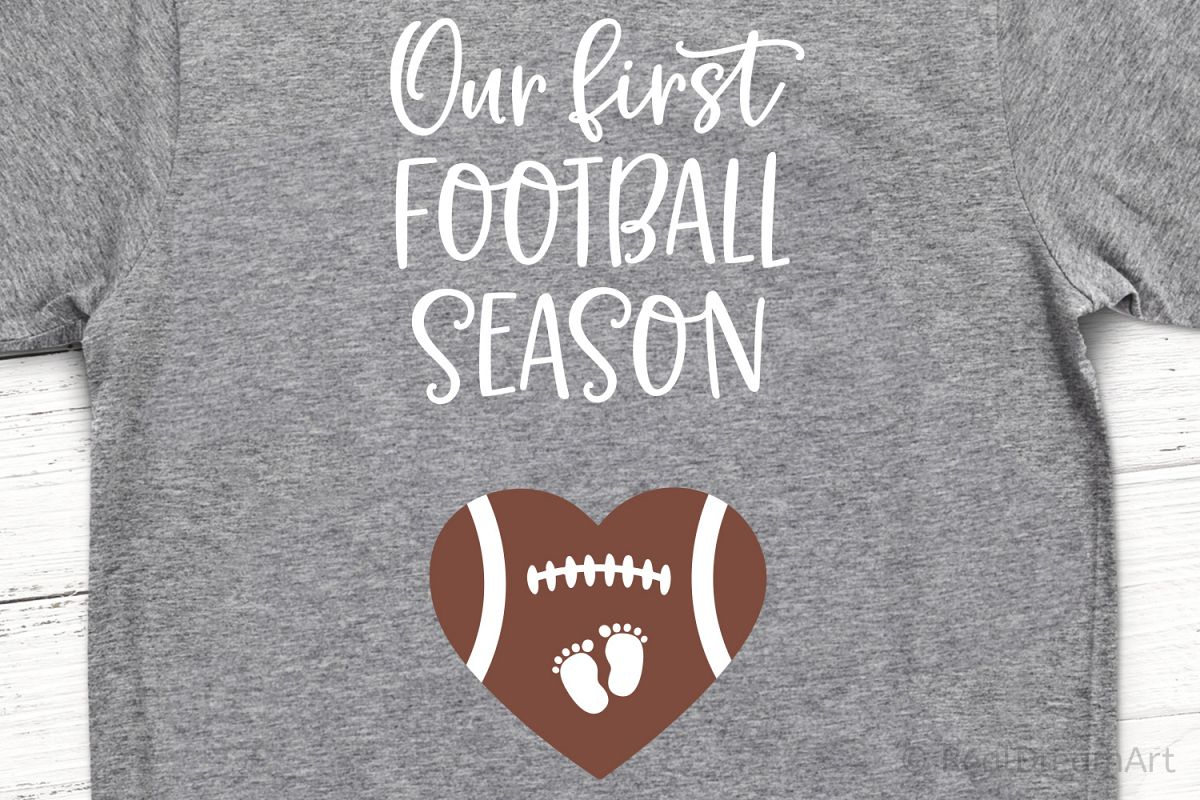 Our First Football Season SVG, DXF, PNG, EPS example image 1