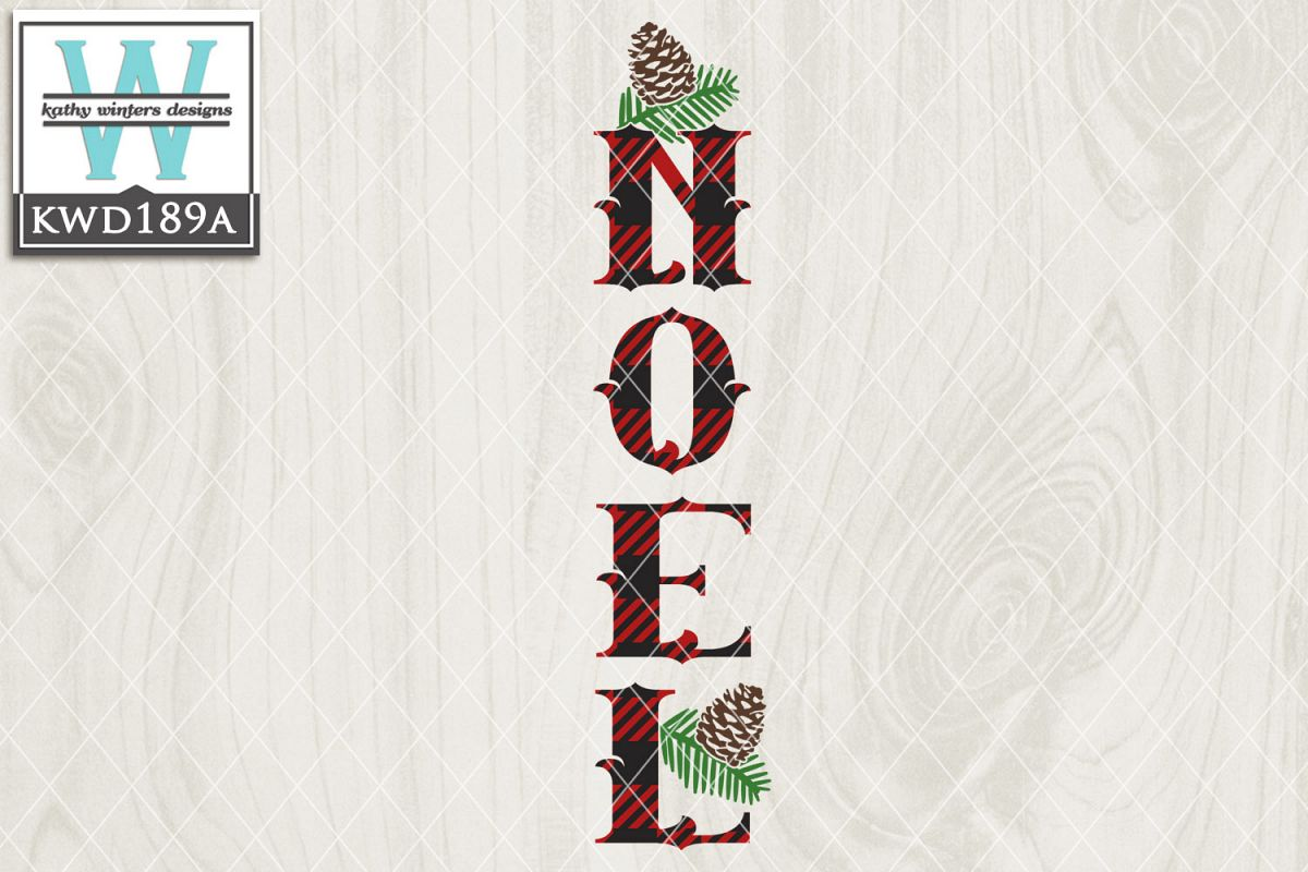 Christmas SVG - Noel Vertical example image 1