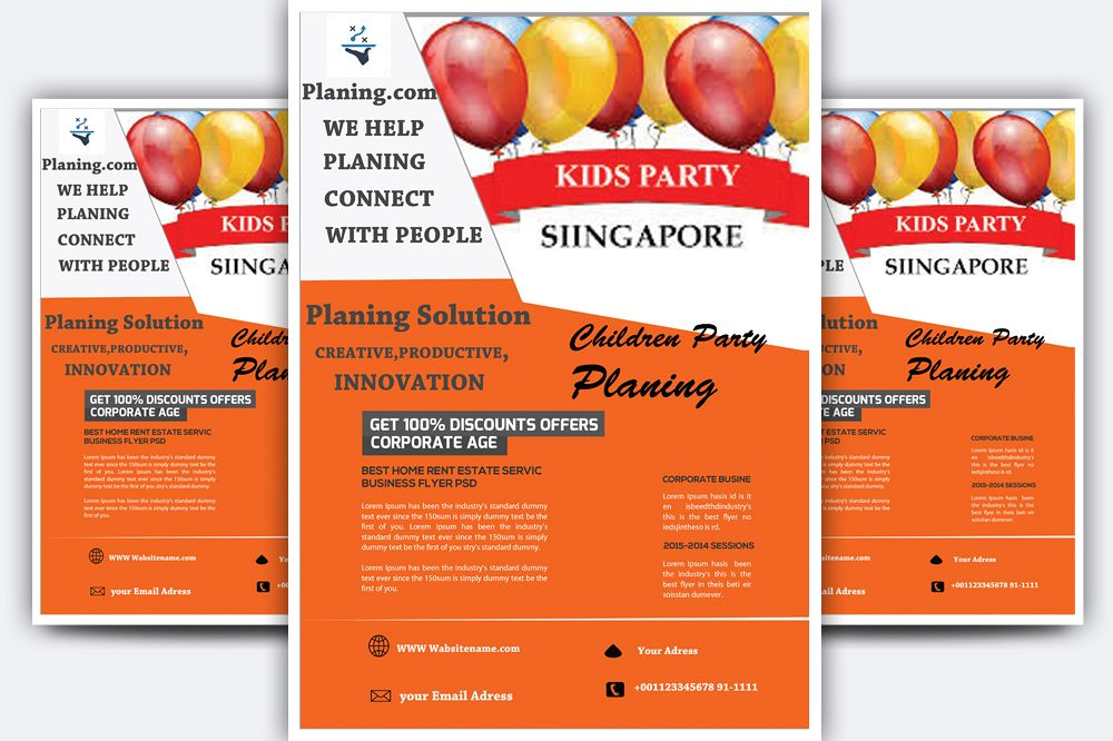 Children Party Planing Flyer example image 1