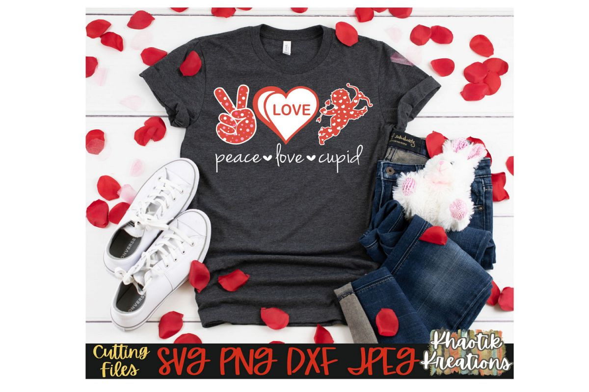 Peace Love Cupid Svg example image 1