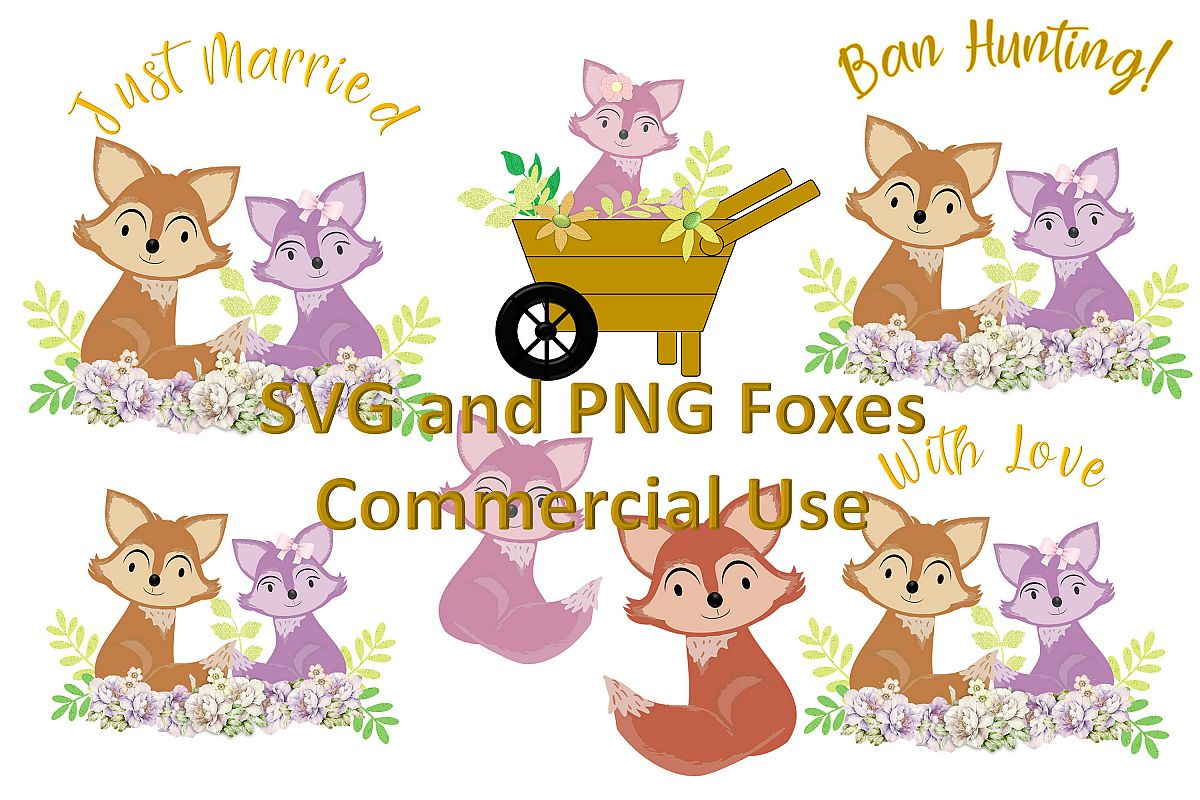 SVG and PNG Woodland Fox Illustration for Commercial Use example image 1
