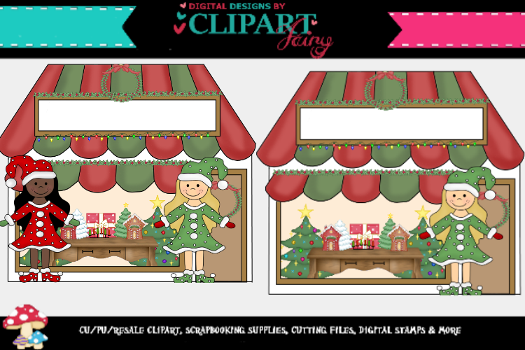 Christmas Cottages/ store fronts example image 1