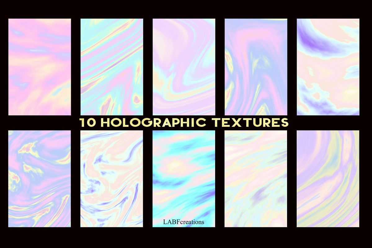 10 Holographic Textures example image 1