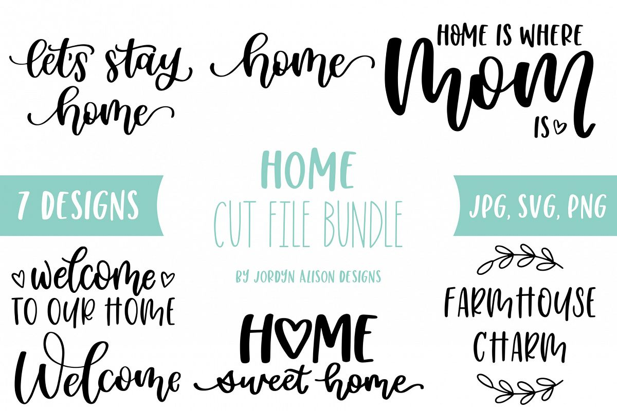 Home SVG Bundle, Welcome to Our Home Bundle example image 1