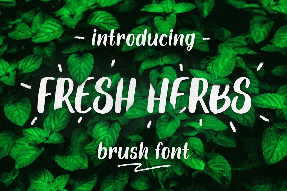 Fresh Herbs font example image 1